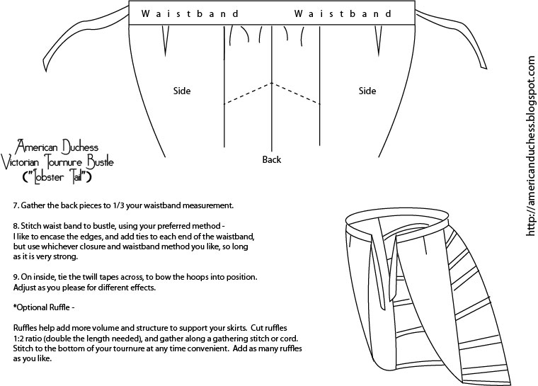 V346: How to Make a Victorian Bustle - Pattern and Instructions ...
