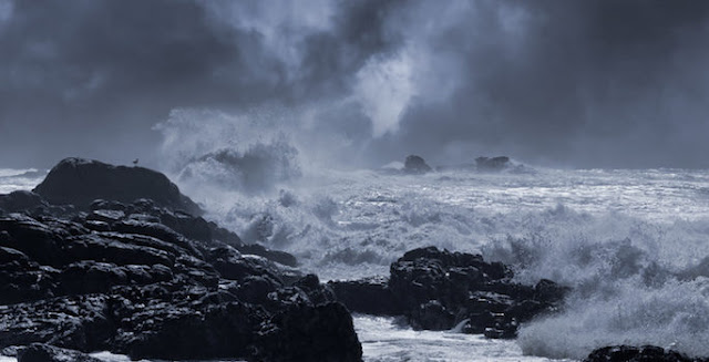 Wet and stormy weather lashed California coast... 8,200 years ago