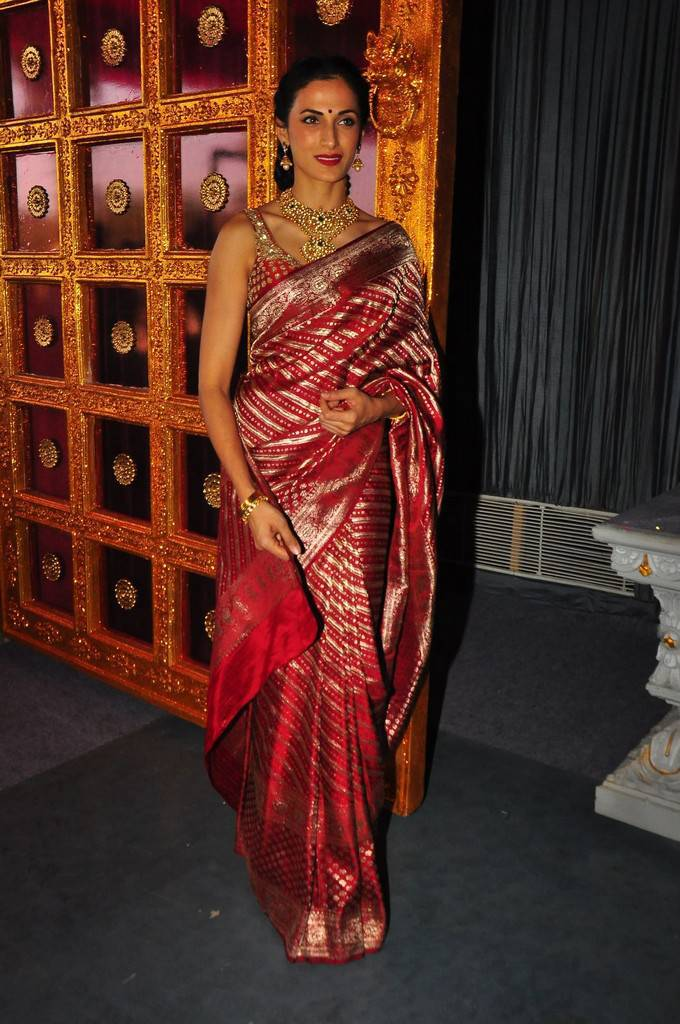 Model Shilpa Reddy Stills In Red Saree