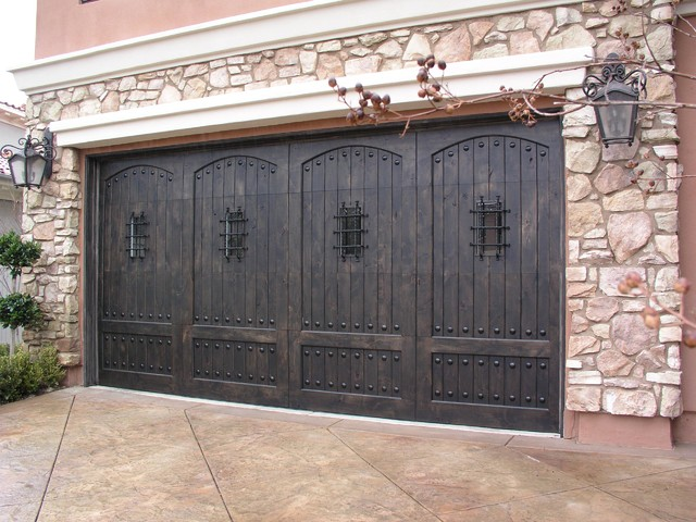 image result for alder wood rustic garage doors stained dark elegant