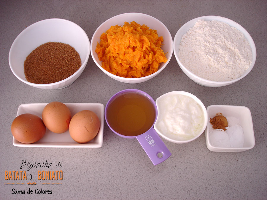 Bizcocho Batata_Ingredientes