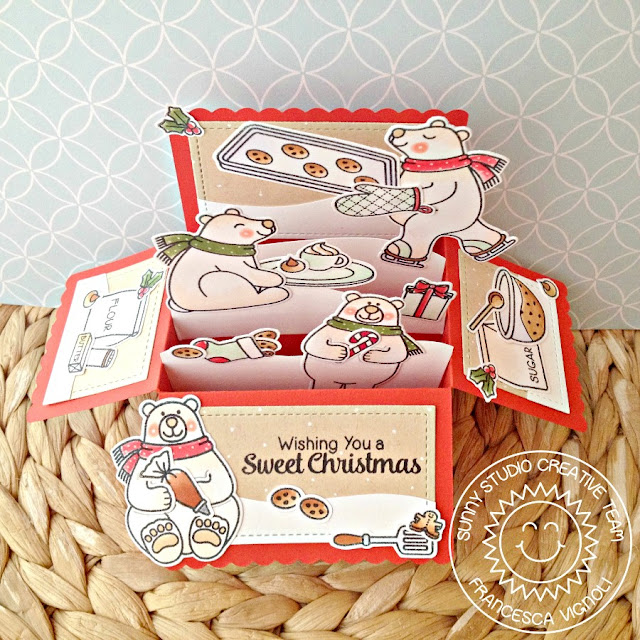 Sunny Studio Stamps: Playful Polar Bears Interactive Baking Bears Card by Franci Vignoli