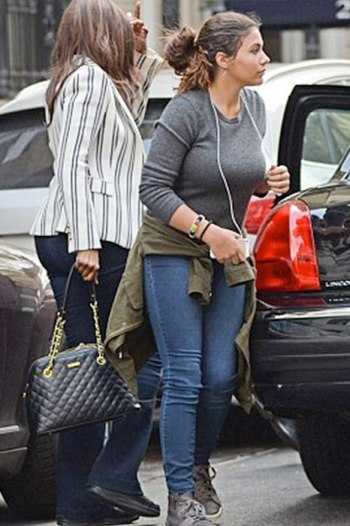 supermodel iman spotted with daughter lexi in nyc