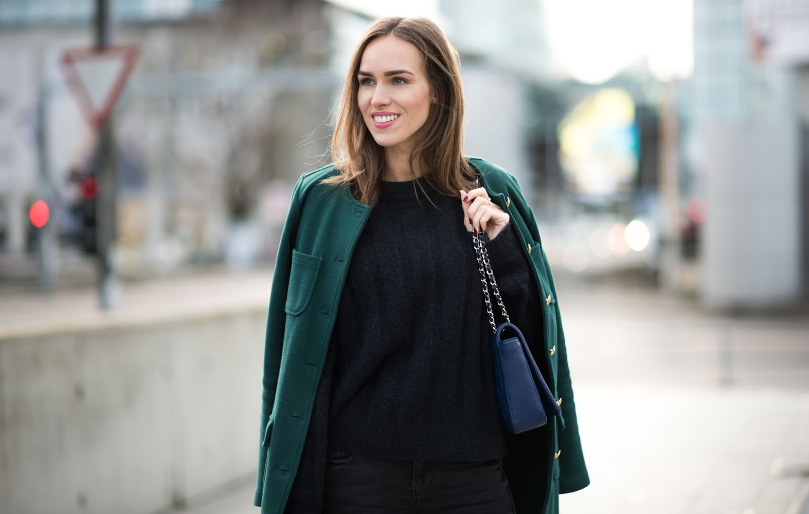 green coat winter fashion