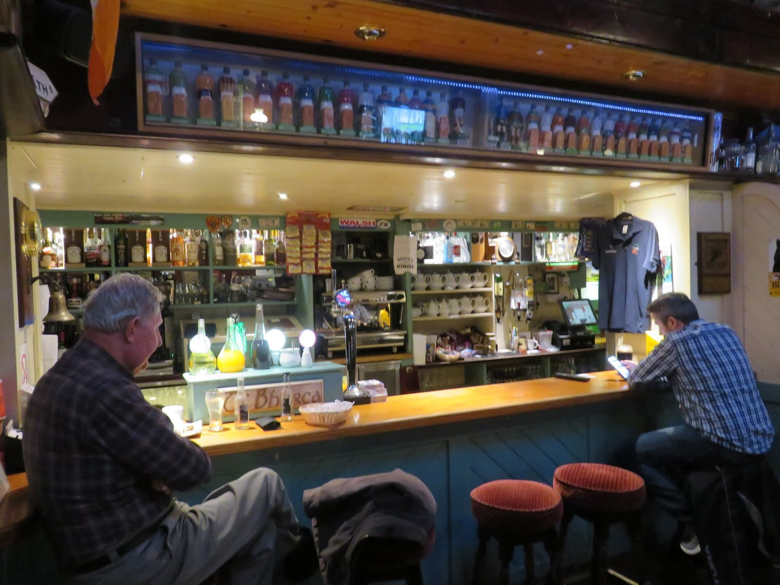 Burkes Was Very Quiet Other Than One Table And These 2 Gentlemen At A Small Segment Of The Bar