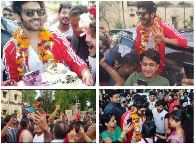 This is how Kartik Aaryan was received in his hometown in Gwalior