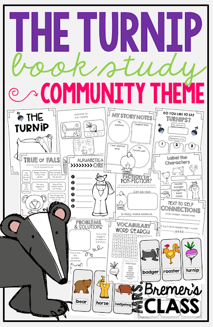 The Turnip book study companion activities to go with the book by Jan Brett. Perfect for whole class guided reading, small groups, or individual study packs. Packed with lots of fun literacy ideas and guided reading activities. Common Core aligned. K-2 #bookstudies #bookstudy #picturebookactivities #1stgrade #2ndgrade #kindergarten #literacy #guidedreading #janbrett #bookcompanion #bookcompanions #1stgradereading #2ndgradereading #kindergartenreading #springbooks