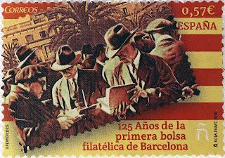 125 AÑOS DE LA PRIMERA BOLSA FILATÉLICA DE BARCELONA