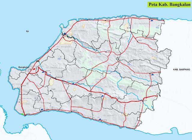 Peta Kabupaten Bangkalan HD