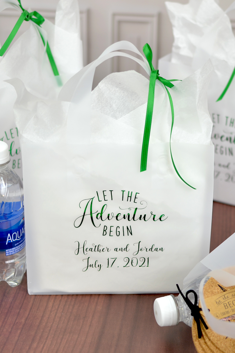 Clear Let The Adventure Begin Wedding Guest Gift Bags