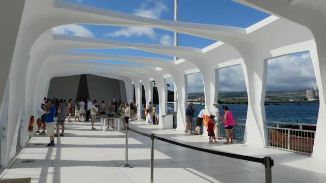 Hawaii - Arizona Memorial Aussichtsplattform