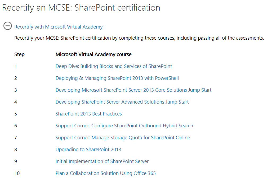 sprocks.io: Re-certify MCSE: SharePoint