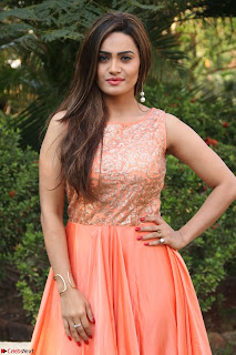 Actress Sakshi in beautiful orange Anarkali Dress Spicy Pics    018.jpg