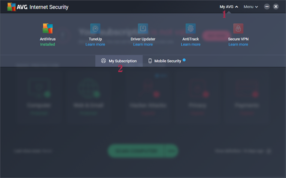 AVG Internet Security 2020 Activation