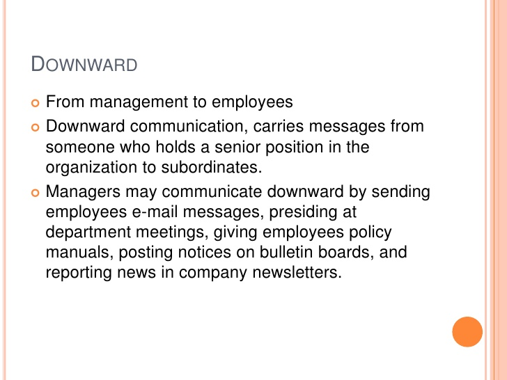 overview of downward communication essay Read this essay on organizational communication information flow downward communication is communication overview of the organization and case study.