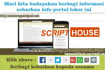 Update portal info Lowongan kerja solo terbaru di CV. SCRIPT HOUSE UTAMA