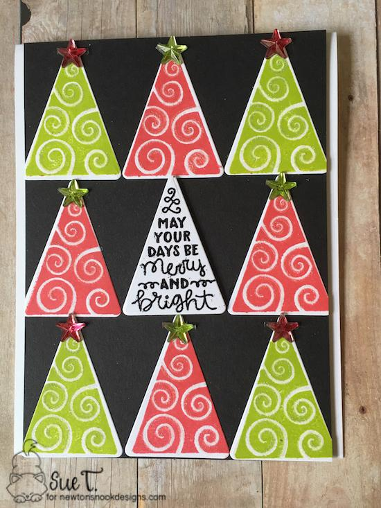 May your days be merry and bright by Sue features Festive Forest by Newton's Nook Designs; #newtonsnook
