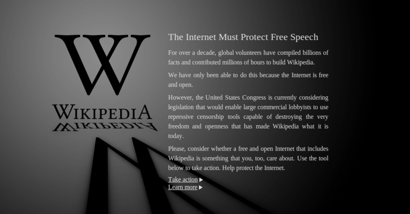 PIPA and SOPA blackout: Wikipedia, Reddit and Others to go down in Protest