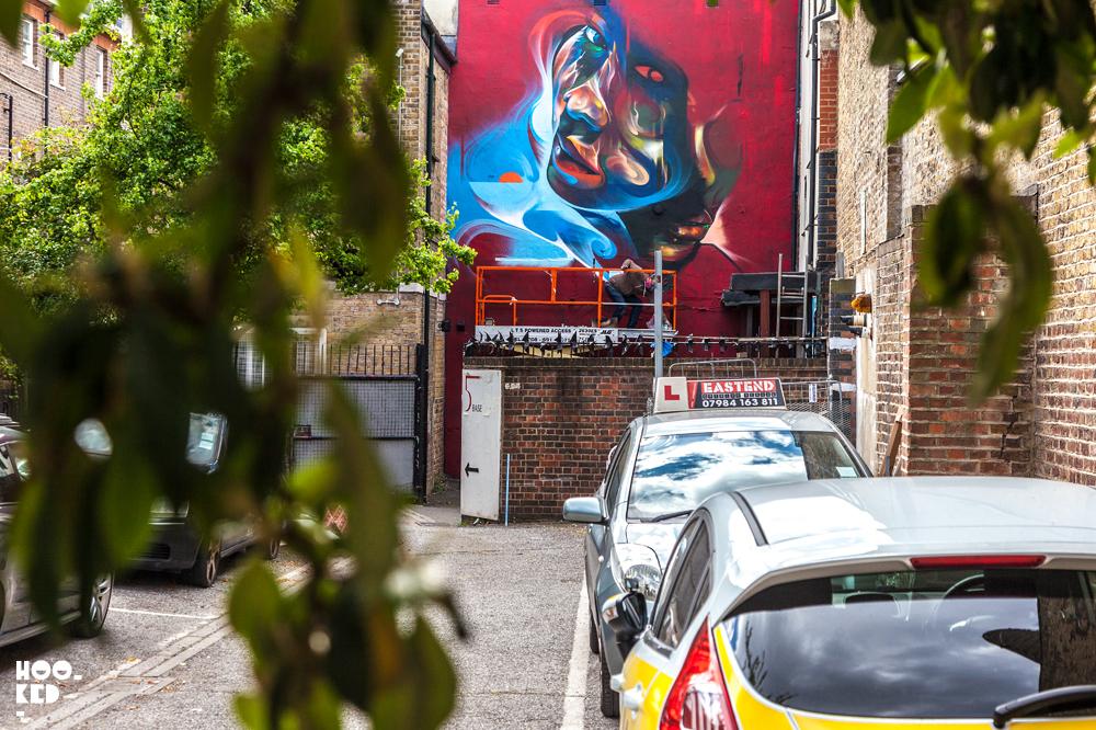 Brick Lane Street Art Mural by street and graffiti artist Mr.Cenz