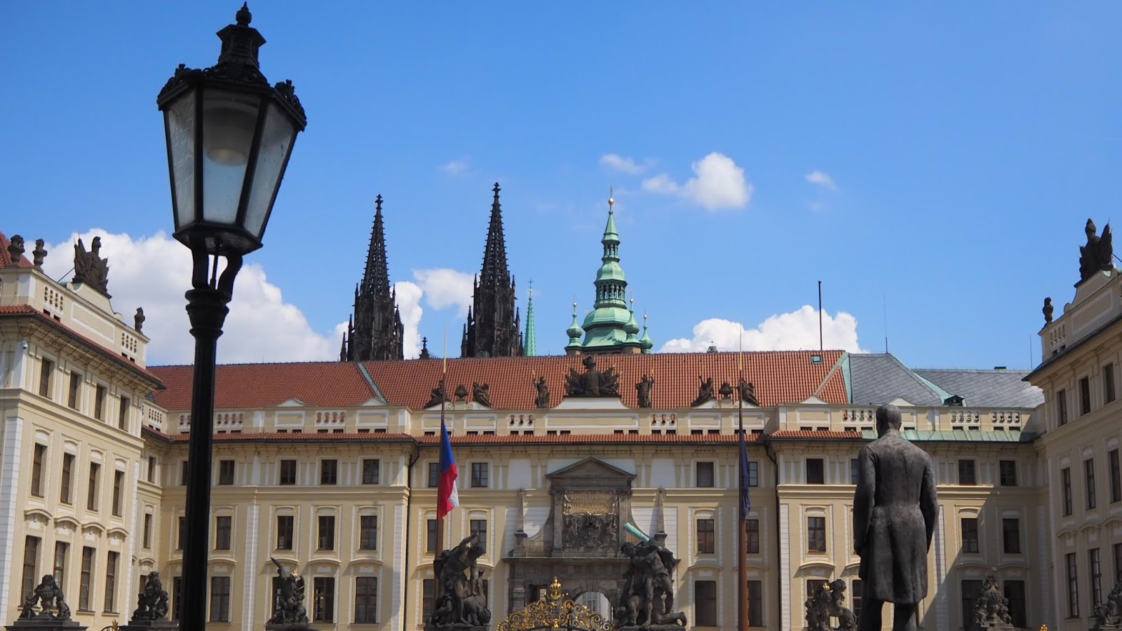 Front view of Prague Castle