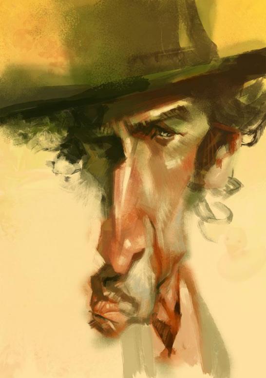 Bob Dylan por Xi Ding
