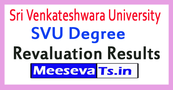 Sri Venkateshwara University SVU Degree Revaluation Results 2017