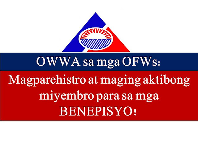Overseas Workers, Welfare Administration (OWWA) is urging every Overseas Filipino Workers to register and become active members of the agency to get benefits, not only for themselves but also for their dependents of families.