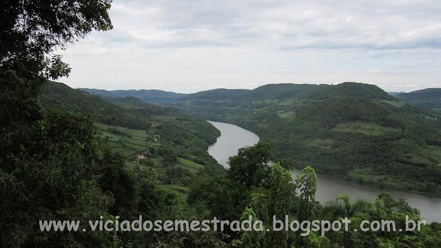 Vista panorâmica do Rio das Antas, Cotiporã, Serra Gaúcha