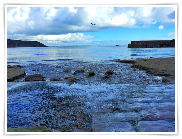 Looking out to sea at Gorran Haven, Cornwall