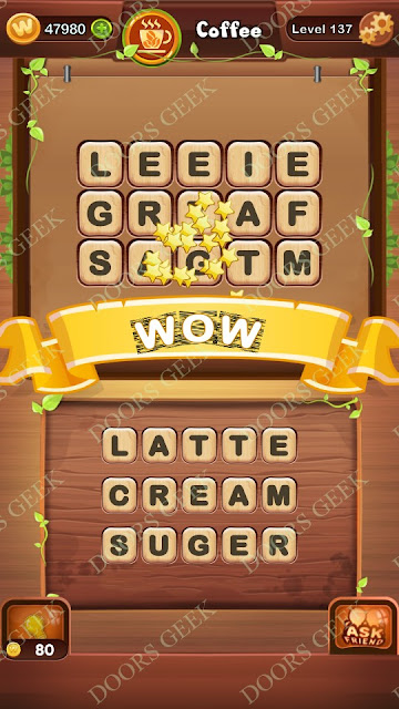 Word Bright Level 137 Answers, Cheats, Solutions, Walkthrough for android, iphone, ipad and ipod