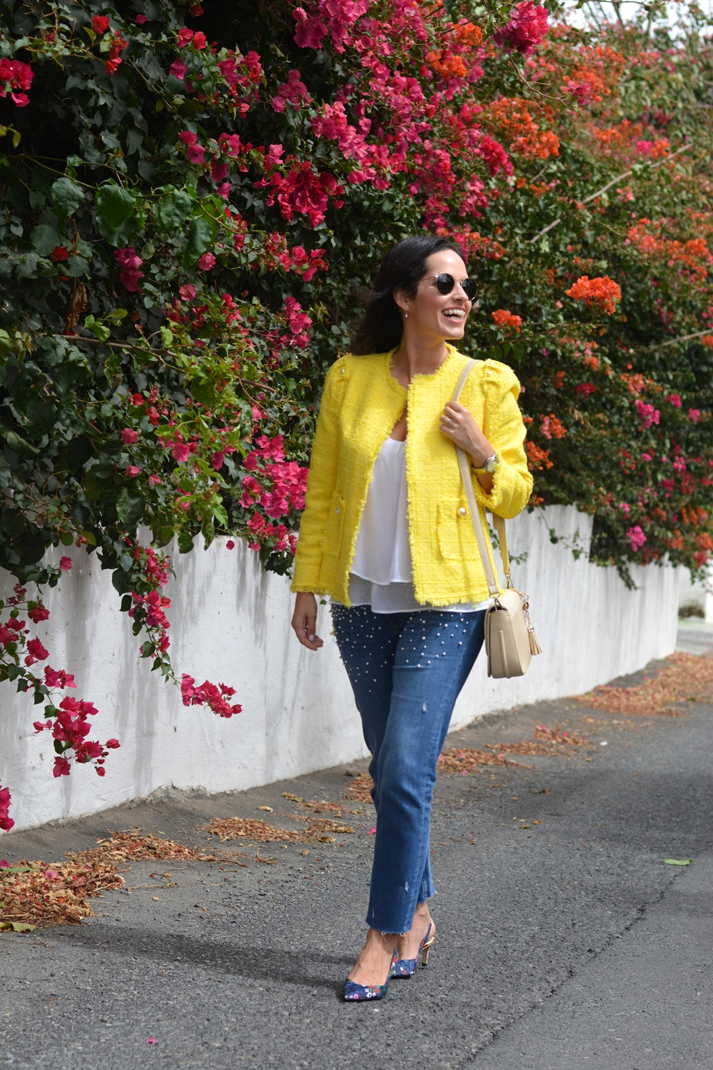 yellow-tweed-zara-jacket-outfit