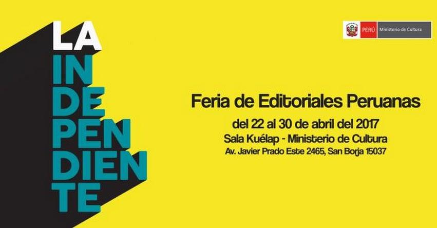 Este sábado abrirán sus puertas la Feria de Editoriales Peruanas en el Ministerio de Cultura