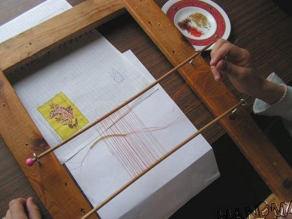 Diy bead loom eliminates many thread ends the beading