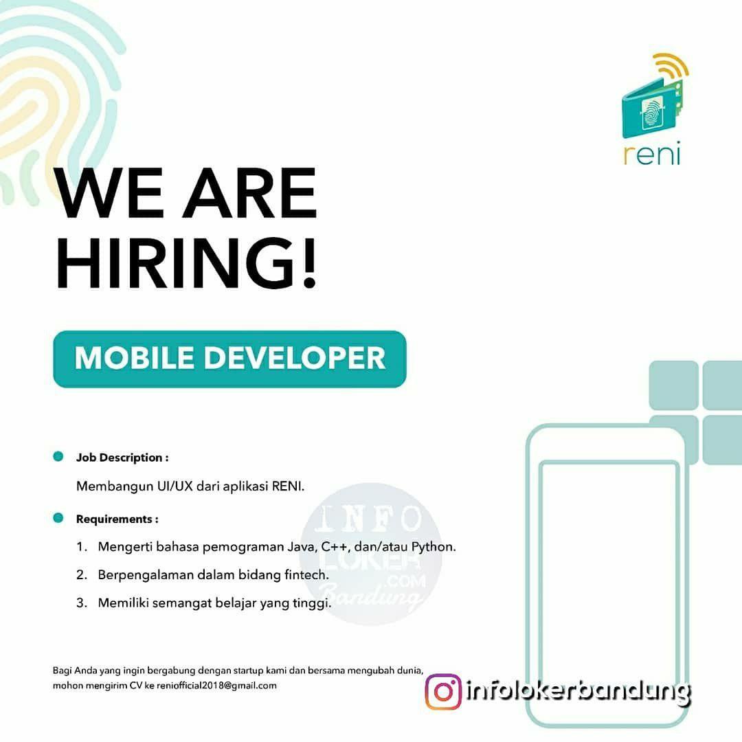 Lowongan Kerja Reni Start Up Bandung Desember 2018
