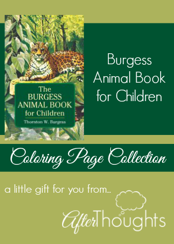 burgess animal book coloring pages - photo#5
