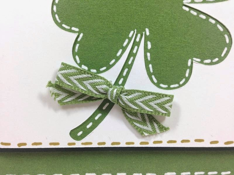 Cricut Artfully Sent St. Patrick's day POP-UP card closeup