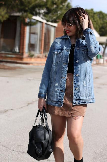 tejana-oversize-falda-antelina-zapatos-oxford