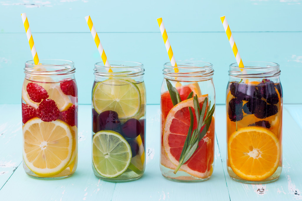 Stay hydrated with fruit infused water