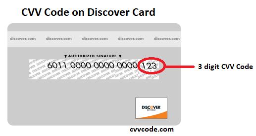cvv discover card