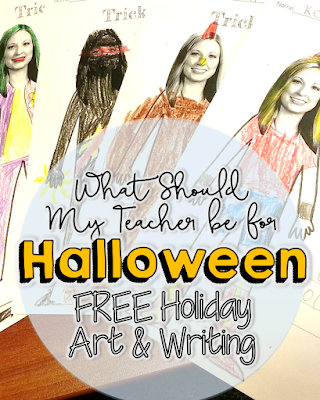 Free art and writing Halloween activity - What Should my Teacher be for Halloween from I Want to be a Super Teacher