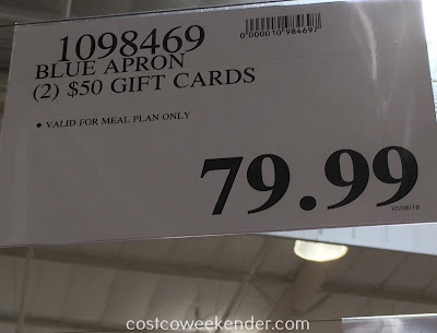 Deal for $100 worth of gift cards to Blue Apron at Costco