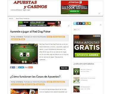 Apuestas y Casinos, blog dedicado a las apuestas deportivas y los casinos online