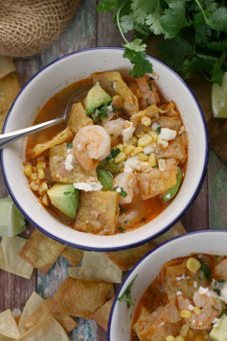 10-Minute Shrimp and Tortilla Soup