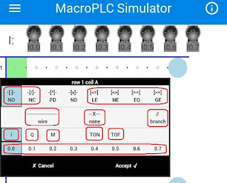 Komponen ladder Macro PLC