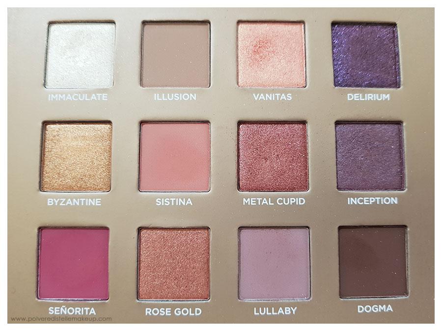 Tonalità Dreamy Eyeshadow Palette Nabla Cosmetics
