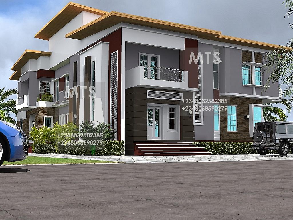 Mr olayemi 4 bedroom 3 bedroom twin duplex for 4 bedroom duplex house designs
