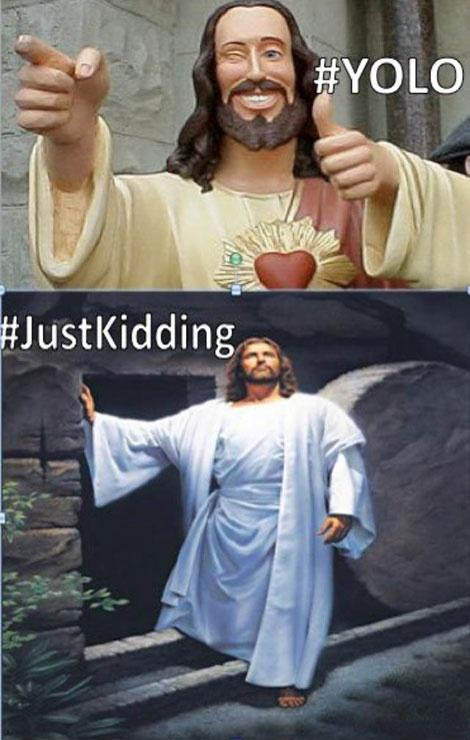 Funny Jesus #YOLO Picture