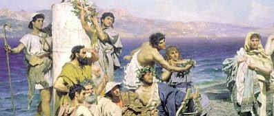 """Detail from """"Phryne in Eleusus"""" by Henryk Siemiradzki (1889)"""