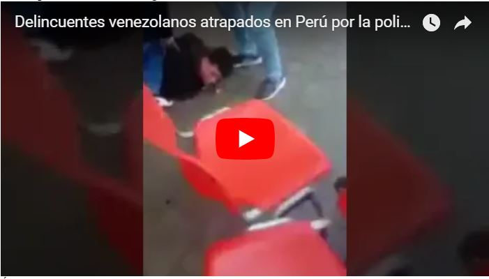 Momento en el que la Policía de Perú atrapa a 5 delincuentes venezolanos