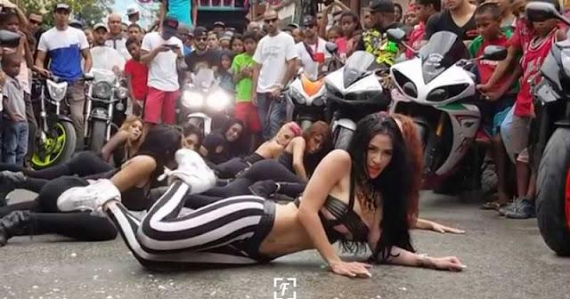 Diosa Canales hizo twerking rodeada de niños